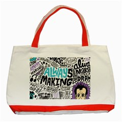Always Making Pattern Classic Tote Bag (Red)