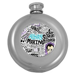 Always Making Pattern Round Hip Flask (5 oz)