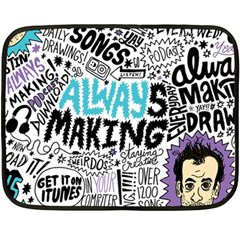 Always Making Pattern Double Sided Fleece Blanket (Mini)