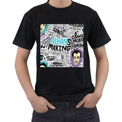 Always Making Pattern Men s T-Shirt (Black)