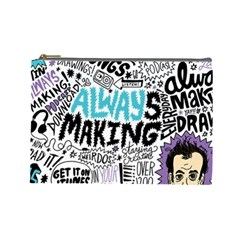 Always Making Pattern Cosmetic Bag (large)