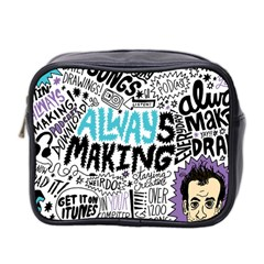 Always Making Pattern Mini Toiletries Bag 2-Side