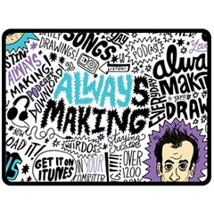 Always Making Pattern Fleece Blanket (large)