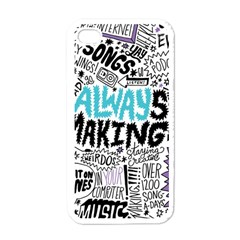 Always Making Pattern Apple Iphone 4 Case (white)