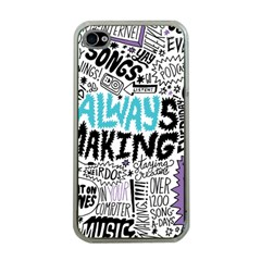 Always Making Pattern Apple Iphone 4 Case (clear)