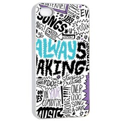Always Making Pattern Apple Iphone 4/4s Seamless Case (white)