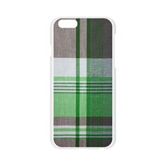 Plaid Fabric Texture Brown And Green Apple Seamless iPhone 6/6S Case (Transparent)