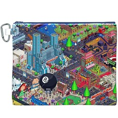 Pixel Art City Canvas Cosmetic Bag (XXXL)