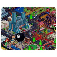 Pixel Art City Jigsaw Puzzle Photo Stand (Rectangular)