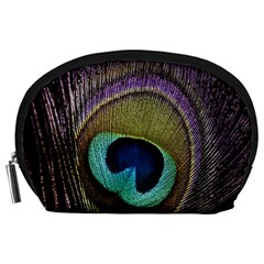 Peacock Feather Accessory Pouches (Large)