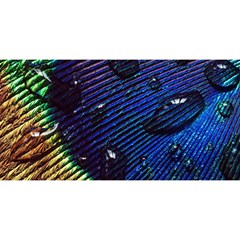Peacock Feather Retina Mac YOU ARE INVITED 3D Greeting Card (8x4)