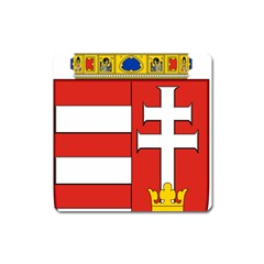 Medieval Coat Of Arms Of Hungary  Square Magnet