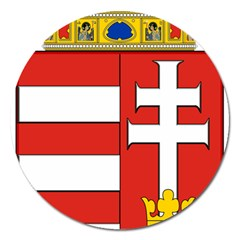 Medieval Coat Of Arms Of Hungary  Magnet 5  (round)