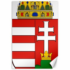 Medieval Coat Of Arms Of Hungary  Canvas 12  X 18