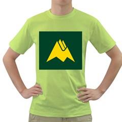 Flag Of Biei, Hokkaido, Japan Green T Shirt
