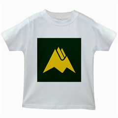 Flag Of Biei, Hokkaido, Japan Kids White T Shirts