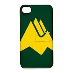 Flag Of Biei, Hokkaido, Japan Apple Iphone 4/4s Hardshell Case With Stand