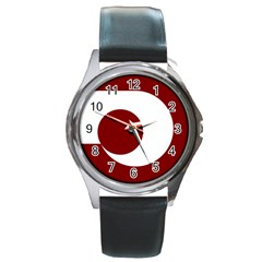 Flag Of Kumamoto Prefecture Round Metal Watch