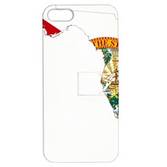 Flag Map Of Florida Apple Iphone 5 Hardshell Case With Stand