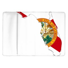 Flag Map Of Florida Samsung Galaxy Tab 10 1  P7500 Flip Case