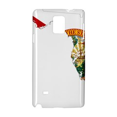 Flag Map Of Florida Samsung Galaxy Note 4 Hardshell Case