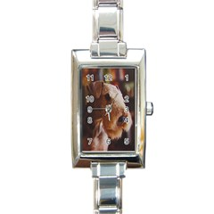 Airedale Terrier Rectangle Italian Charm Watch