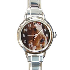 Airedale Terrier Round Italian Charm Watch
