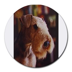 Airedale Terrier Round Mousepads