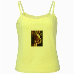 Airedale Terrier Yellow Spaghetti Tank