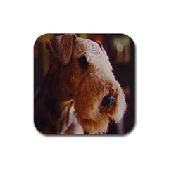 Airedale Terrier Rubber Square Coaster (4 pack)