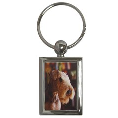 Airedale Terrier Key Chains (Rectangle)