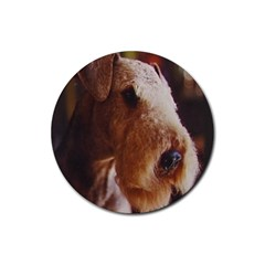 Airedale Terrier Rubber Coaster (Round)