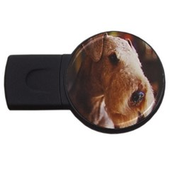 Airedale Terrier USB Flash Drive Round (2 GB)