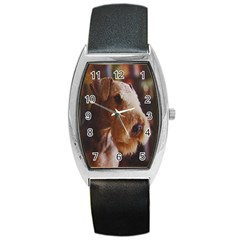 Airedale Terrier Barrel Style Metal Watch