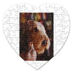 Airedale Terrier Jigsaw Puzzle (Heart)