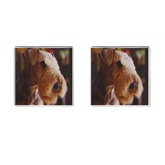 Airedale Terrier Cufflinks (Square)