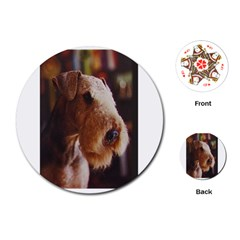 Airedale Terrier Playing Cards (Round)