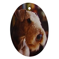 Airedale Terrier Oval Ornament (Two Sides)
