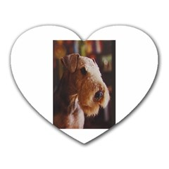 Airedale Terrier Heart Mousepads