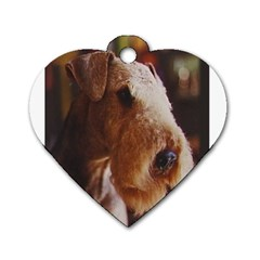 Airedale Terrier Dog Tag Heart (Two Sides)