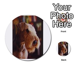 Airedale Terrier Multi-purpose Cards (Round)
