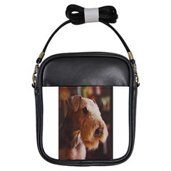 Airedale Terrier Girls Sling Bags