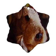 Airedale Terrier Snowflake Ornament (2-Side)