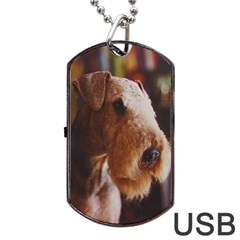 Airedale Terrier Dog Tag USB Flash (One Side)