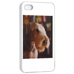 Airedale Terrier Apple iPhone 4/4s Seamless Case (White)
