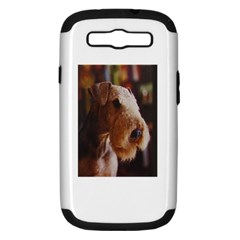 Airedale Terrier Samsung Galaxy S III Hardshell Case (PC+Silicone)