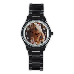 Airedale Terrier Stainless Steel Round Watch