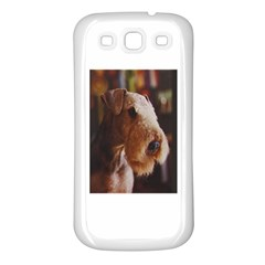 Airedale Terrier Samsung Galaxy S3 Back Case (White)