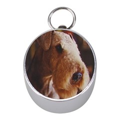 Airedale Terrier Mini Silver Compasses