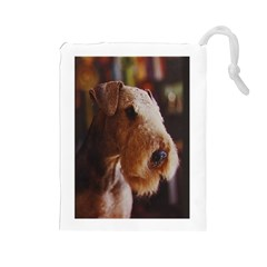 Airedale Terrier Drawstring Pouches (Large)